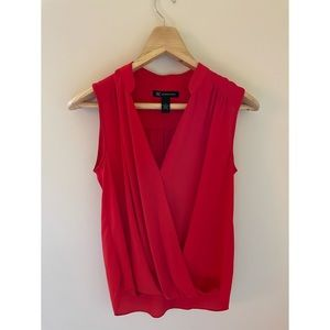 International Concepts INC Red Sleeveless Blouse